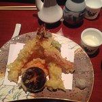 Crispy shrimp and veg tempura