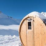 Sauna-Wagen beim Iglu-Dorf für unsere Hotel-Gäste