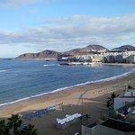 vista de la playa de las canteras desde la piscina de la azotea. Noviembre