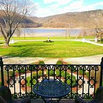 Perfect view of the Ohio River from the River View Mansion Suite
