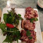 Excellent  tartine pied porc et ris de veau terre mer divins magret de canard tendre et délicieu