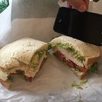 Turkey, Jack Cheese and Avocado and iPhone 5s.
