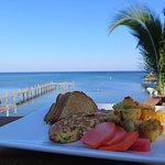 breakfast overlooking the Caribbean sea