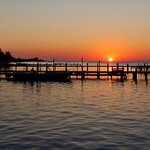Sunset - overlooking the private dock