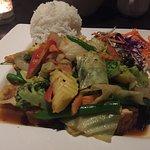 Tofu/Veggie Thai Basil w/ Jasmine Rice