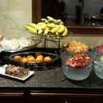 Fresh fruits, breads, yogurt, coffee.  They have all you are looking for.