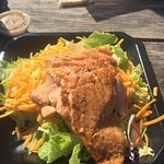 This grilled salmon salad was amazing!!