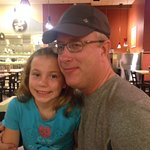 nephew and his daughter in the restaurant