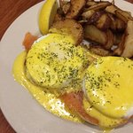 Smoked Salmon Eggs Benedict on Sunday Brunch Menu only