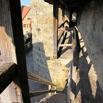 the narrow part of the wall; when the stairs meets wall