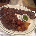 churrasco steak with moros and plantains
