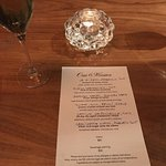 Six course tasting menu with pairings