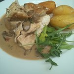 Chicken fillet with mixed salad and potatoes