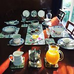 Our silver service-style continental breakfast setting