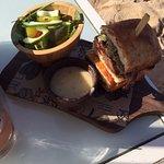 The brisket sandwich on the beach - get it!