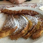 French toast and bacon.