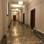 Third floor Hallway with original doors, terrazzo and marble