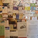 Community notice board at Mariposa