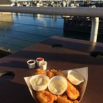 Fish and chips with extra tarter sauce
