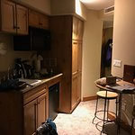 kitchenette. closet/bathroom around corner to the right