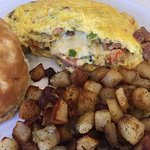 Crawfish omelette was awesome!  Great crab cake Benedict was over the moon, can't wait to go bac