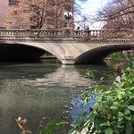 River walk bridge outside the Hotel dining room