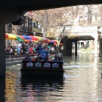 Beautiful San Antonio river walk is just steps away from the Hotel Contessa lobby/dining room do