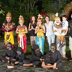 With the Kecek fire dance performers after the show at Lake Leke restaurant.