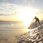 early morning surf sesh as the sun is coming up is always the best!