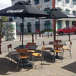 We have plenty of outdoor seating & all day sunshine