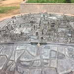 A metal 3D map on the stone