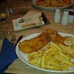 large haddock with wine mmmmmm!