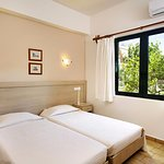 One bedroom apartment, the bedroom with 2 single beds that can be pushed as a double bed
