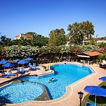 Large swimming pool at Lefka apartments