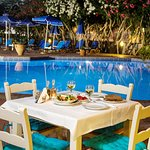 Pool/snack bar at Lefka apartments
