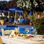 Enjoy food and drinks at the pool/snack bar