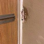 No security chain on door
