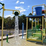 Part of the water play area at Discovery Park, Dubbo