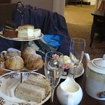 Lovely afternoon tea at the Blossoms.