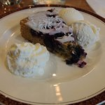 Touches like the citris cream with this lovely blueberry cake make Mojo's very special.
