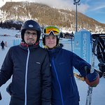 Syed with Skiing instructor Mr. Celestin