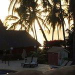 Coucher du soleil depuis le bar centralMagique