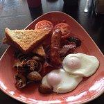 Typical breakfast - around £4.50 inc. drink