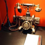 "A new ""old style"" telephone keeping with the ""telegraph"" theme"