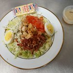 Cobb Salad with Chopped Grilled Chicken, tomagoes, Bacon,BLU Cheese