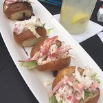 Lobster sliders on challah rolls