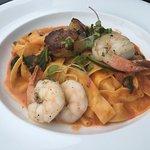 Scallops, shrimp & pasta