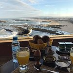 Generous & tasty breakfast with fantastic views. Our 'friend' liked the look of it too!