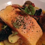 Arctic char with broth