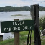 2 Tesla charging stations free for overnight guests